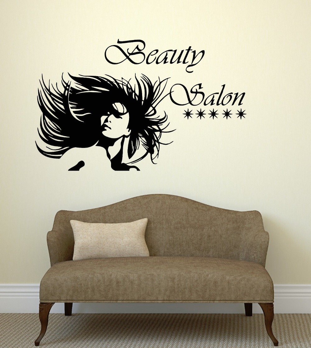 Buy wall decal beauty salon sexy woman for Stickers salon