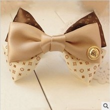 High Quality New 2015 Fashion Hair Accessories For Women Korean Style Hair Bows Silk Hair Clip F024(China (Mainland))