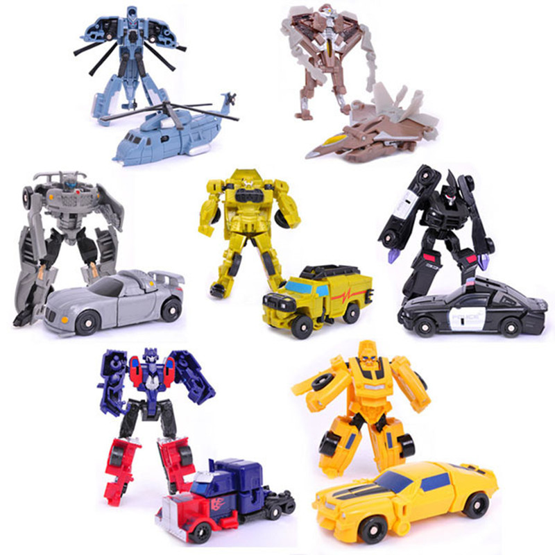 J243 New Arrival Mini Classic Transformation Plastic Robot Cars Action & Toy Figures Kids Education Toy Gifts Wholesale(China (Mainland))