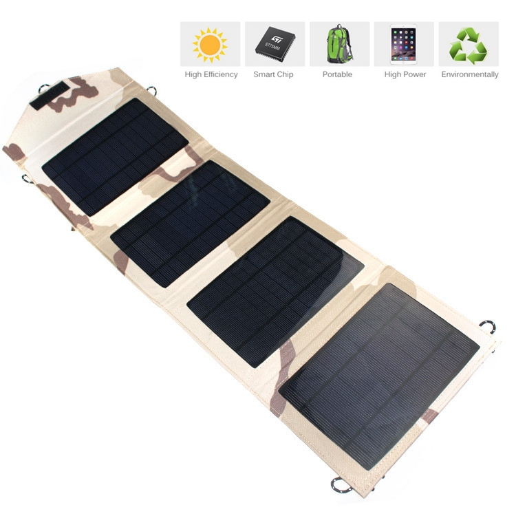 New Portable Foldable solar charger 14W dual USB for Samsung Xiaomi etc Mobile Phone Solar charger