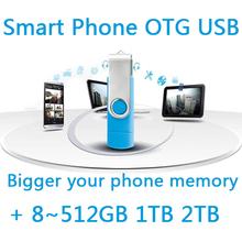Cle Usb Flash Drive 64g 8gb 16gb 32gb Smart Phone Mobile Double Port Otg Dual Pen Driver Pendrive Memory Stick Otg Usb Stick 1TB