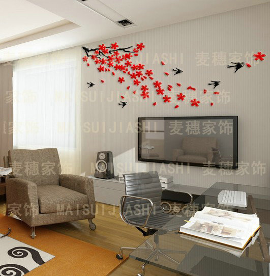 Dancing crystal three-dimensional wall stickers tv wall sofa background wall home wall stickers small mural wallpaper 3d(China (Mainland))