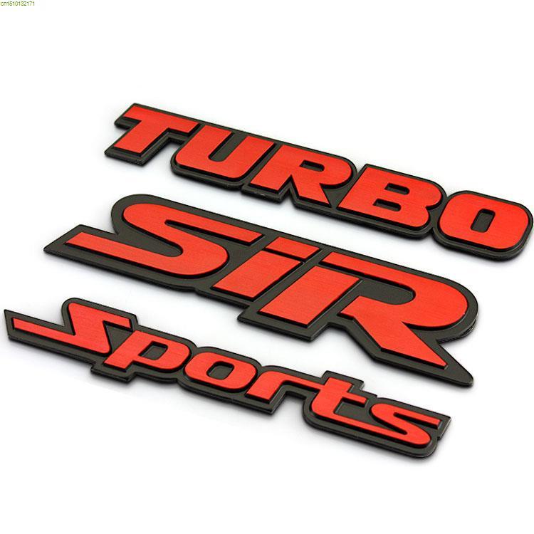 TURBO design aluminum wire drawing craf  logo car refit sticker,car tail decor metal sticker badge Turbo/Sport/Sir available(China (Mainland))