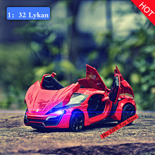 Buy Hot 1:32 Fast & Furious Lykan Alloy Diecast Car Model Pull Back Toy Cars Electronic Car light&sound Kids Toys Children for $10.44 in AliExpress store