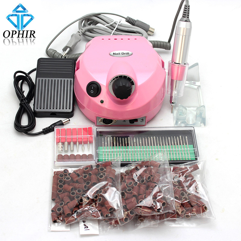 OPHIR 110V/220V 30000RPM Electric Nail Drill Machine Manicure Pedicure 30 Bits 300 Sanding Bands Nail Tool _KD143PU+163+165-167(China (Mainland))