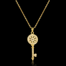 Key Chain Necklaces & Pendants Heart Fashion Jewelry 18K Real Gold Plated Luxury Brand New Key Pendant Necklace For Women XL494(China (Mainland))