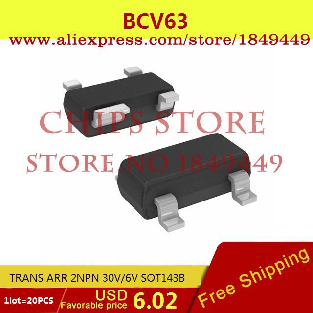 Бесплатная Доставка Электроники BCV63, 215 TRANS ОБР 2NPN 30 В/6 В SOT143B BCV63 20 ШТ. itap 143 2 редуктор давления