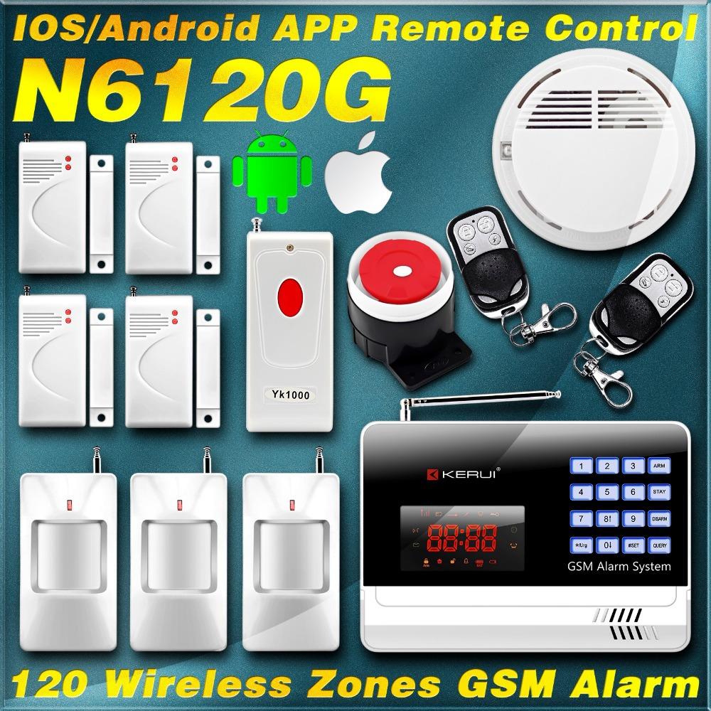 KERUI English/Russian/Spanish IOS/Android alarma Smart Intelligent Home Burglar Voice GSM Alarm for Intercom Security protection<br><br>Aliexpress
