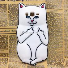 3D Cartoon Animal Rock Pocket Cat Silicone Case Cover Samsung Galaxy A5 E5 J5 & A7 E7 J7 Grand Prime G530 G531 - International Fashion Goods Stores store