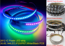 Buy Pixels LED Pixel strip dream color WS2812B 5050 RGB 5M LED Strip 5M/Roll 30 60 72 144 Leds/m Individual Addressable 5V IP20 IP67 for $30.73 in AliExpress store