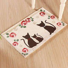 Cat Embroidery Home textile carpet on the floor decorative rug for bedroom tatami mat in the living room home decor