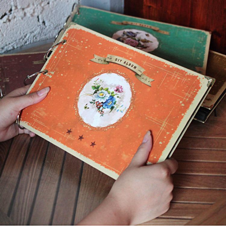 Free shipping cute DIY handmade photo album black card paste type personalized Polaroid photo album baby grows photo album(China (Mainland))