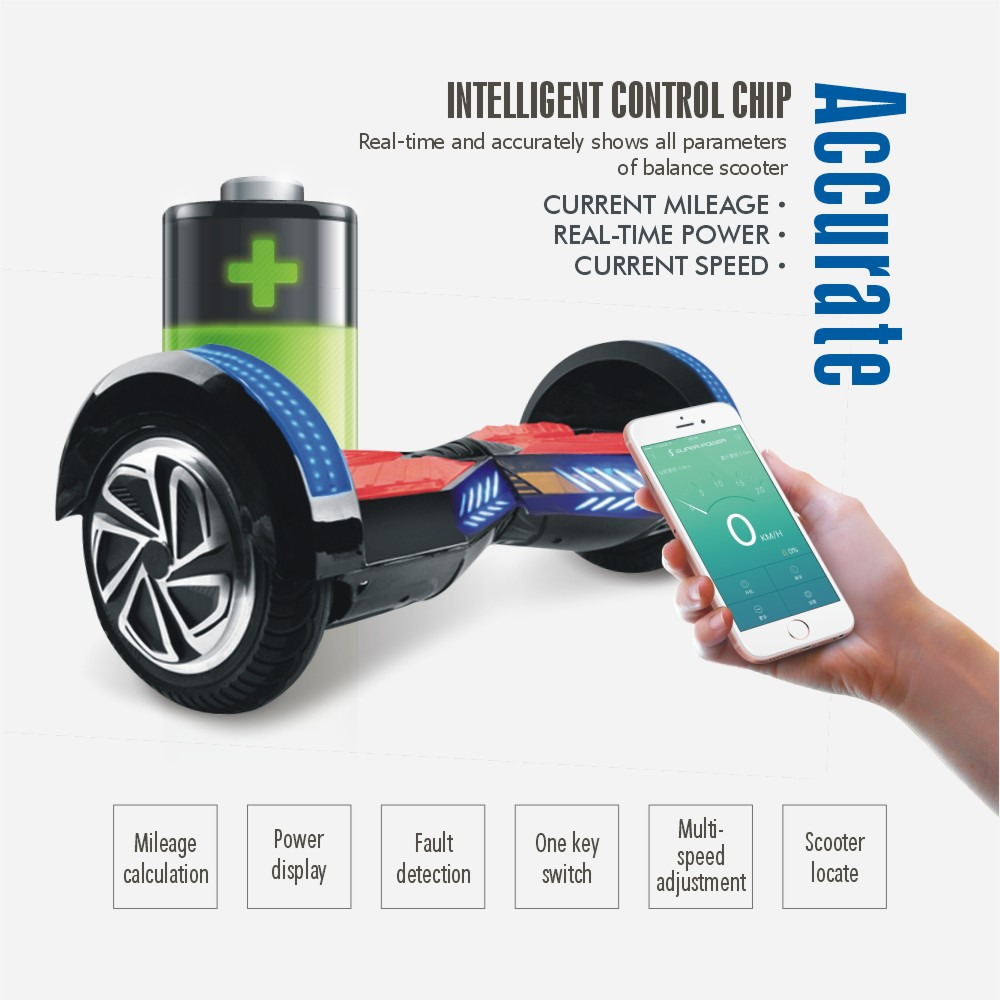 With Mobile App 8 inch Hoverboard Bluetooth Electric Wheel Scooter Unicycle Skateboard Drift Hover Board Self Balancing Scooter(China (Mainland))