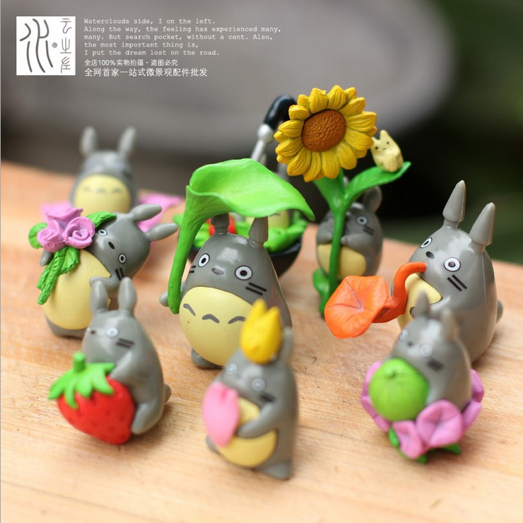 Micro landscape handmade crafts anime My Neighbor Totoro, 9pieces/set DIY toys garden decoration increase the room beautiful<br><br>Aliexpress