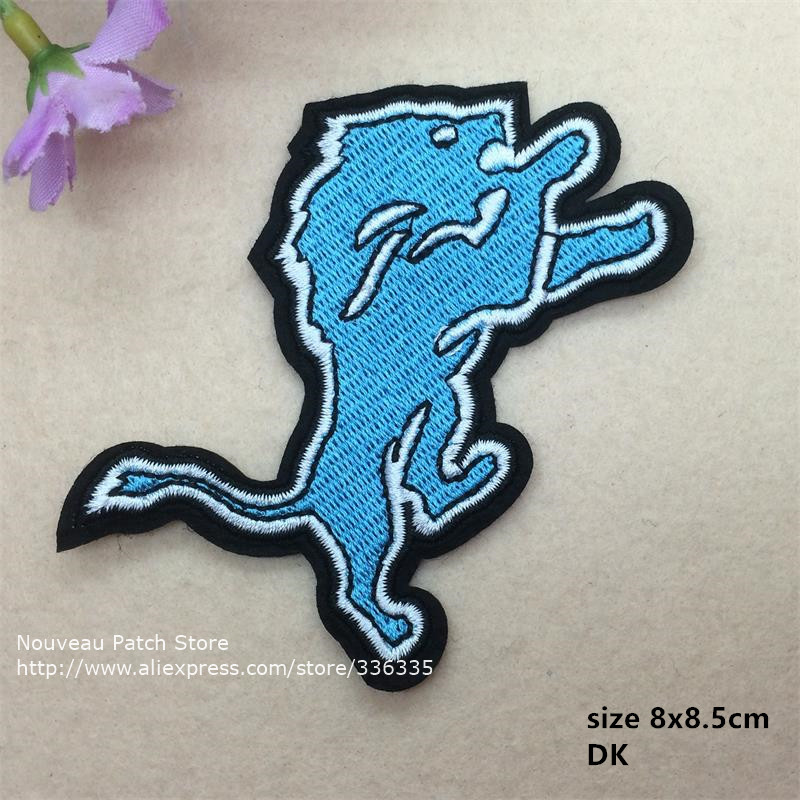 10 pcs Sports Team Logo Full embroidered Iron On Patches Quality garment Appliques accessory DK CPAM Shipping(China (Mainland))