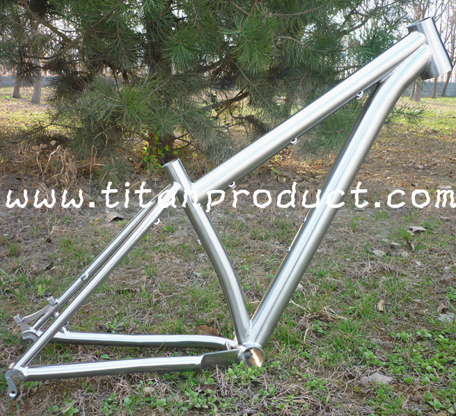 Titanium MTB Frame 27.5 Wheel Tapere Headtube/Bent Seattube/PF30 BB Shell(China (Mainland))