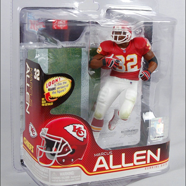 Animation Garage Kid Collection Kids Toys: Action Figure PVC Dolls NFL Kansas City Chiefs Player Marcus Allen Model Best Gifts(China (Mainland))