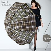 British style Oversized Lattice Fold Anti-UV Sun/Rain  umbrella rain women/men Stick  Outdoor Umbrella Manual Big Parasol(China (Mainland))