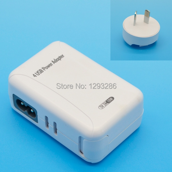 AU Plug White USB Power Adapter & Wall Charger Replacement Universal 5V 2A for Samsung iPhone 4 5 Apple iPad Mobile Phone in3x(China (Mainland))