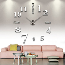 Modern Vintage DIY Large Wall Clock 3D Mirror Sticker Big Watch Home Decor Unique Gift SGG# - Secret Garden123 store