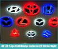 Free shipping 4D WHITE RED BLUE Led Car styling Parking Logo REAR Badge Emblem LED Sticker