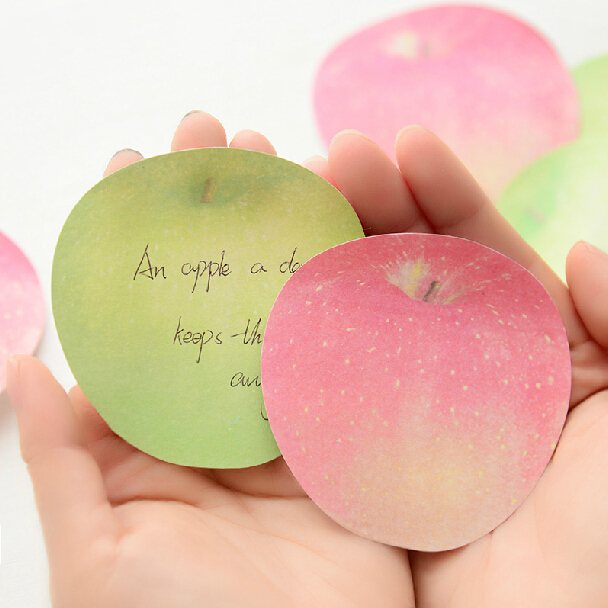 Novelty Apple Memo Pad Sticky Notes Bookmark Gift Stationery FOD(China (Mainland))