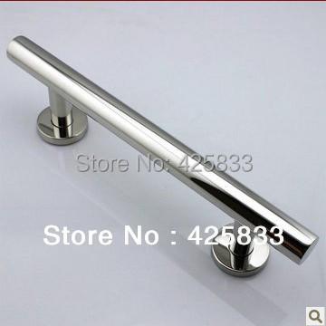 300mm 304 Stainless Steel Big Glass & Wood Door Handles Chromming Drawer Pulls Kitchen Hardware