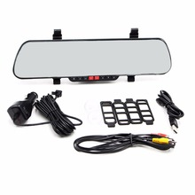 mini camcorder full hd car camera dvr parking rearview mirror video recorder with night vision car dvr recorder(China (Mainland))