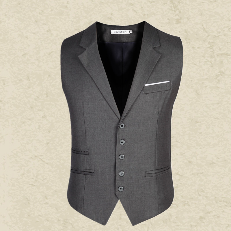 NEW arrival Men's clothing business Blazers Sleeveless Waistcoats Slim fit male Vests Formal Suits Vest Plus size M-3XL MQ217(China (Mainland))