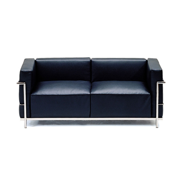 World -le corbusier lc3 chair Corbusier grade office reception sofa SF-4006A-2S(China (Mainland))