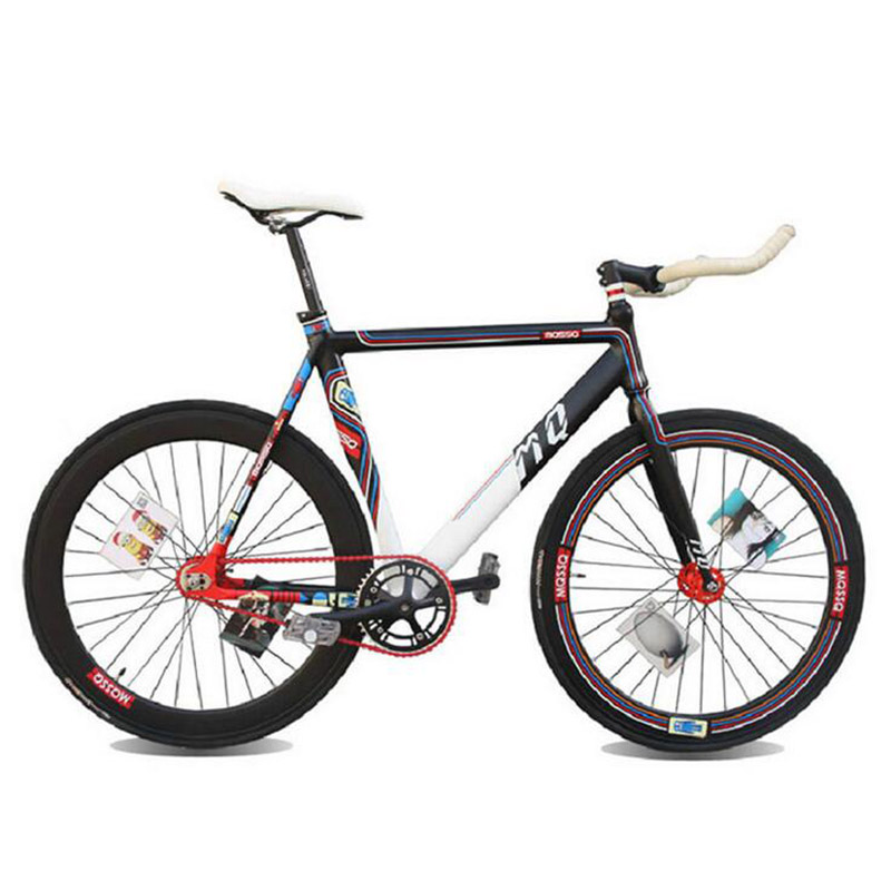 Facebook fixie Bicycle Fixed gear bike 700C 52cm Promotion DIY Muscular frame Complete Road Bike Aluminum Alloy frameType(China (Mainland))