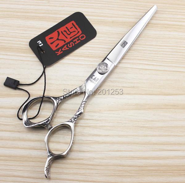 6.0Inch Kasho Professional Barbers Cutting Scissors and Thinning Scissors Kits,Human Hair Scissors for Salon Used,1set LZS0144