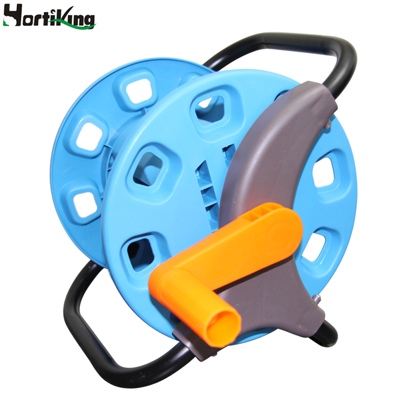 Hot Sale Magic Empty Hose Reels Small Garden Hose Cart Water Pipe Storage Holder Save Space Garden Hose Storage Reels Car H-GA06(China (Mainland))