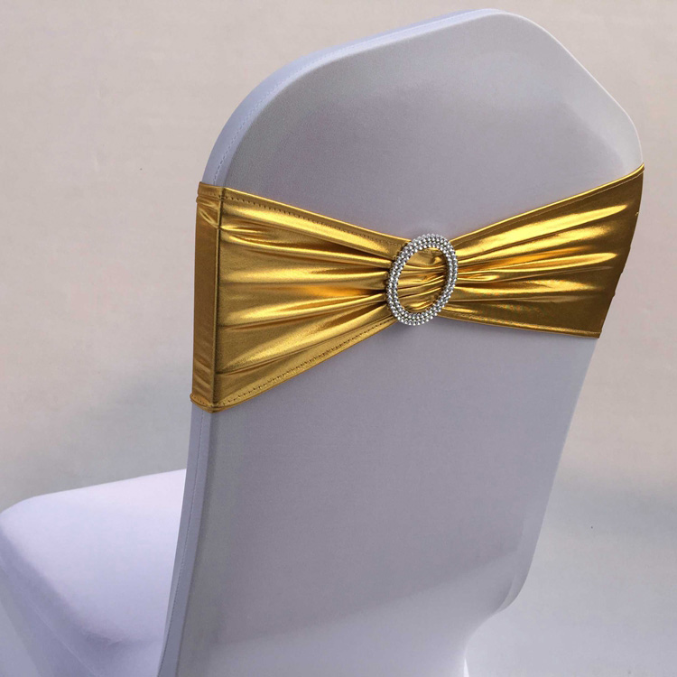 Plastic Wedding Bands >> Free-shipping-100pcs-Bronzing-Elastic-Stretch-Chair-Sash ...