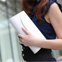 Alligator Casual Clutch High Quality PU Leather Small Handbags Envelope Evening Clutch Chain Shoulder Strap Herald Fashion New(China (Mainland))