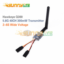 Hawkeye Q300 5.8G 40CH 300mW Raceband FPV Transmitter Transmission Module 2-6S Wide Voltage Range for QAV Racing Drones