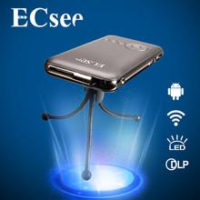 ECsee M6 854X480dpi Household DLP HD Entertainment LED Mini Portable 1080P Home theater projecting camera USB LED Projector