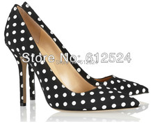 Brand wedding shoes spots pointed dress shoes for women(China (Mainland))