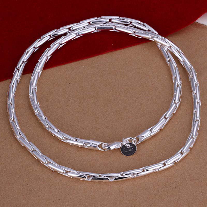 20 inch silver 925 3 mm snake chain necklace fashion 925 sterling silver jewelry China necklaces men jewelry(China (Mainland))