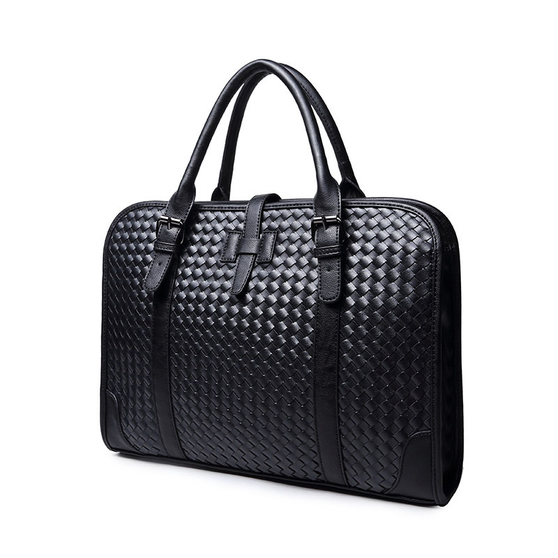 Male leather bag briefcase portfolio men messenger bags business handbag shoulder bag fashion men's travel bags(China (Mainland))