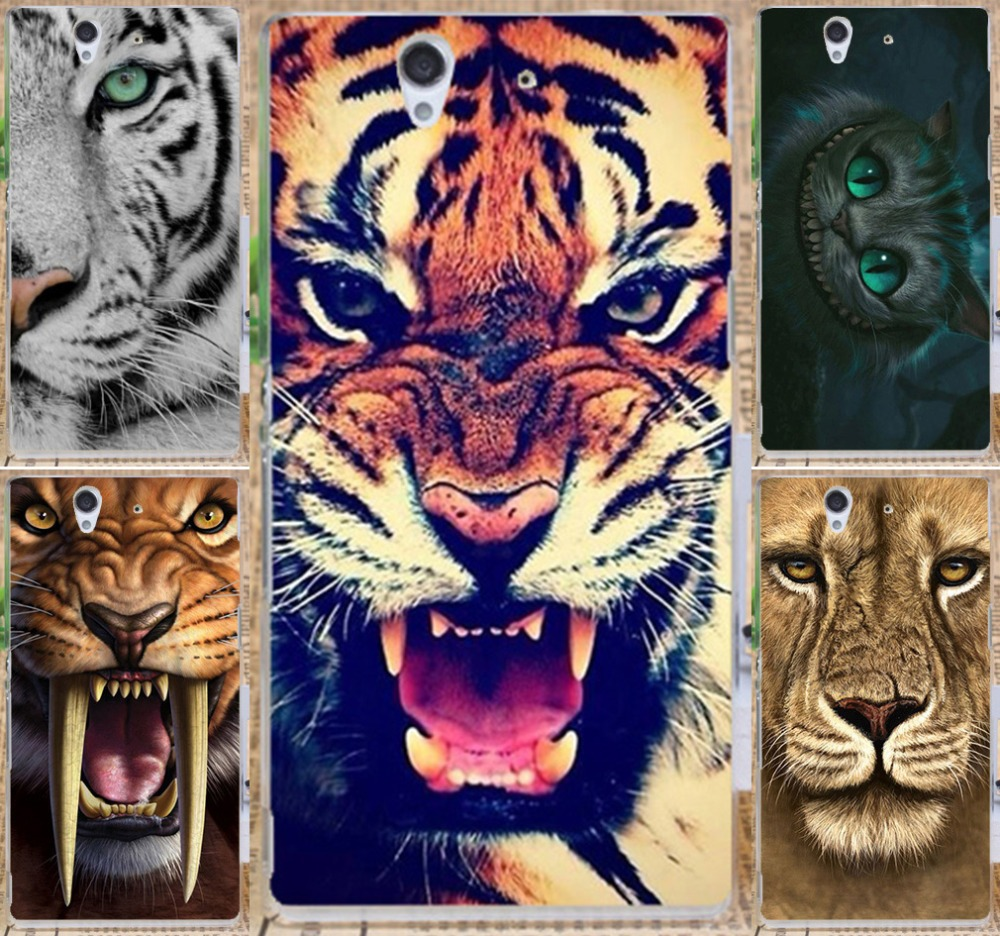 Cool TIger Lion Cat Pattern Hard Case Cover for Sony Xperia Z l36h l36i c6601 c6602 c6603 protective case freeshipping(China (Mainland))