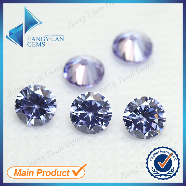 500pcs 2.6~6.0mm Lanvender Color Wholesale 5A Loose CZ Stone Brilliant Round Cut Cubic Zirconia Synthetic Gemstone For Sale(China (Mainland))