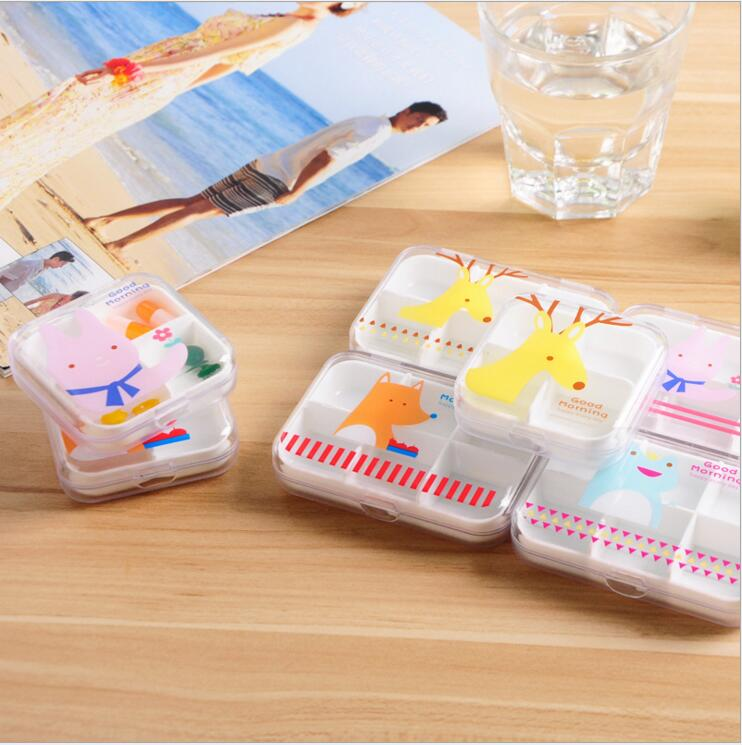 20pcs/lot New Portable 6 Slots+4 Slots Pill Cases Jewelry Storage Box Vitamin Medicine Pill Box Makeup Case Container MR0012(China (Mainland))