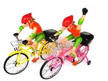 bikes electric bicycles electric-driven toys with music and lighting model bicycle toys CN post(China (Mainland))