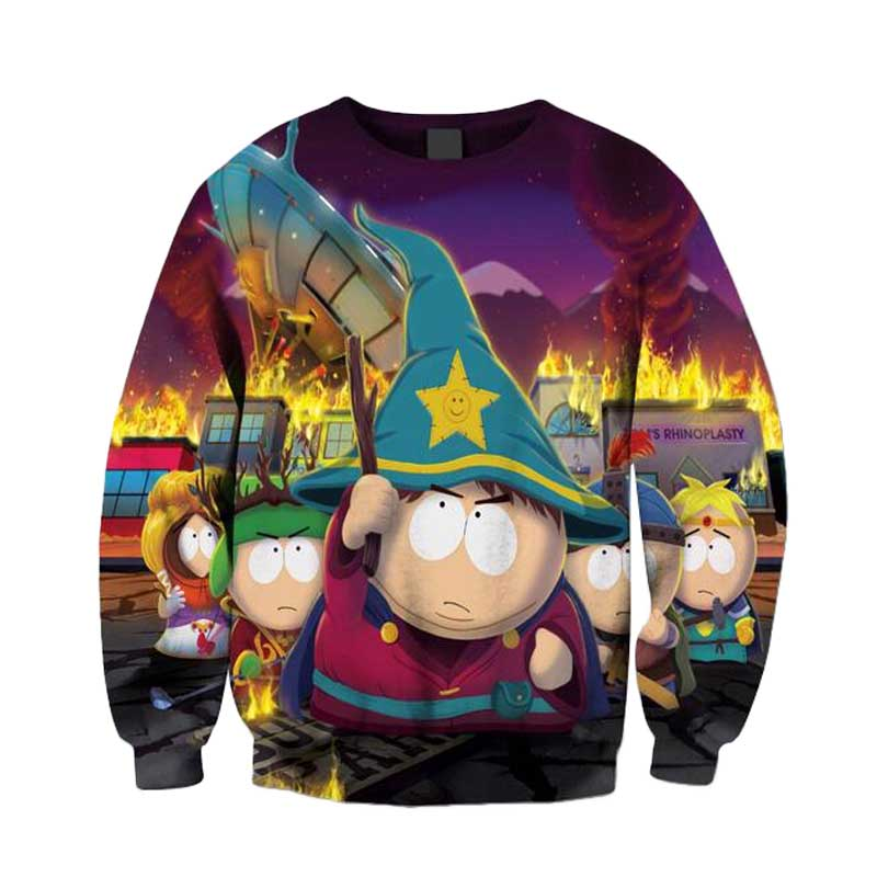 Women Men South Park Explosion 3D Sport Tops print Sweatshirt Crewneck Outfits Pullovers Casual Jumper Jogger Plus Size(China (Mainland))