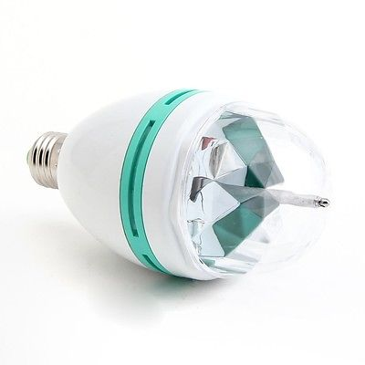 1XClearance E27 RGB Led Crystal Magic Stage Lamp Rotating DJ Bar Bulb 220V(China (Mainland))