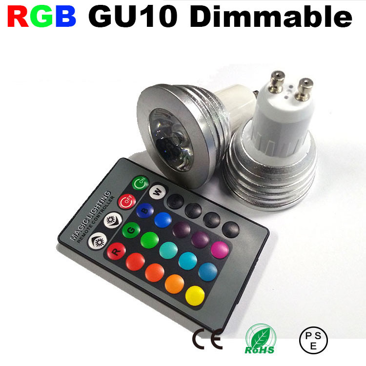 spot lamp led gu10 dimmable blub light rgb color ampoule. Black Bedroom Furniture Sets. Home Design Ideas