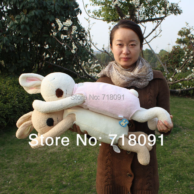 Le sucre Bunny Pillow,Plush Stuffed Toy Rabbit Animals Cushion for Kid's Gifts,76x15CM,1PC