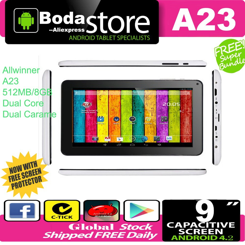 Free Shipping A23 MID - Cheap Tablet PC A23 Q88 - 9 inch Capacitive Screen + Android 4.2 + Camera + Wifi + 1.5GHz + Bluetooth(China (Mainland))