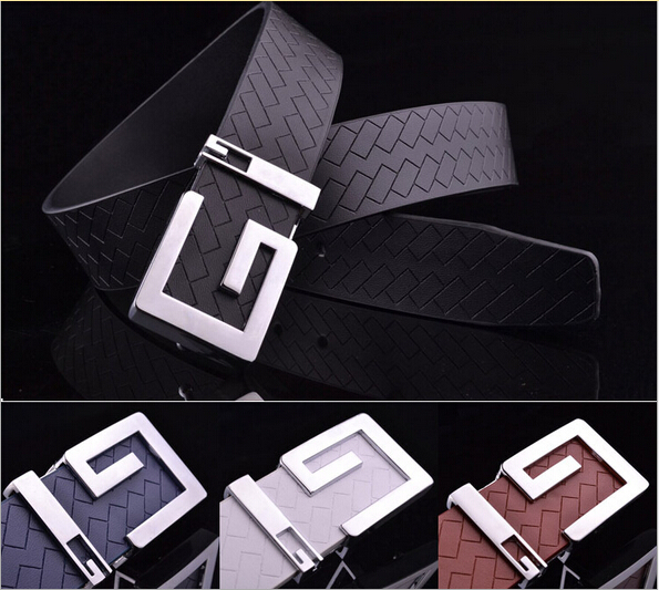 Hot! 2015 New Unisex Fashion Brand Buckle Design Belts for Men Leather Casual Strap Male/Female Simple Casual Men/Women Belts(China (Mainland))